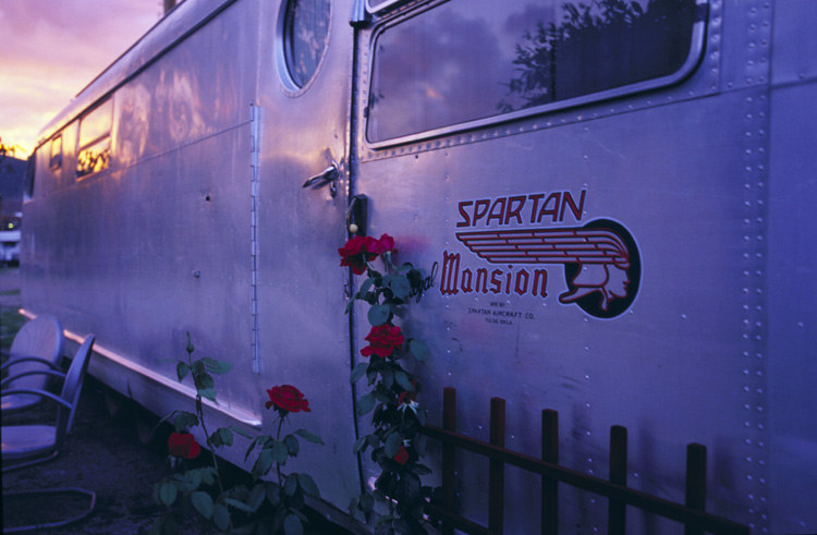 Spartan Royal Mansion at Dusk, ©2001 Martin Trailer